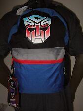 The Transformers Autobots VS Decepticons Cartoon Reversible School Backpack Bag