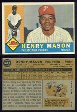 (30468) 1960 Topps 331 Henry Mason Phillies-EM