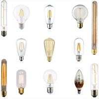 Vintage Filament Bulb Dimmable 40W Incandescent E27 E14, LED 2W 3W 4W, Warm Cool
