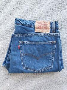 Levi's 607 Men's Blue Denim Jeans 38 x 30 Regular Straight Leg