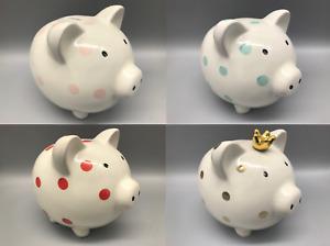 Extra Large Kids Piggy Bank Ceramic Coin Money Saving Box Cash Storage Fund