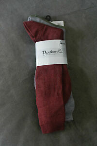 3 pairs Pantherella mens dress socks new sage steel burgundy