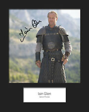 GAME OF THRONES - JORAH MORMONT (Iain Glen) #2 Signed 10x8 Mounted Photo