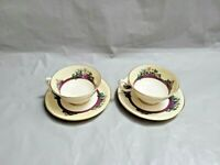 2 Lenox Southern Gardens P310R Gold Trim Cup and Saucer Sets Made in USA