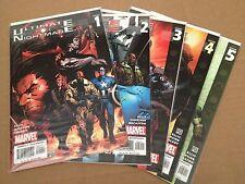 Ultimate Nightmare 1-5 F/VF/NM+ 1 2 3 4 5 Marvel Avengers X-Men Ultimates