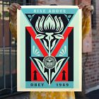 Shepard Fairey Obey Giant Deco Flower BLACK Print Poster Signed Numbered /300
