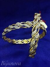 Cubic Zirconia Gold Bangle Indian Jewellery