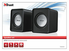 TRUST 19830 2.0 LETO 6W MAX 3W RMS USB POWERED PC COMPUTER SPEAKER SET
