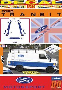 DECAL FORD TRANSIT FORD MOTORSPORT 1977 (06)