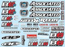Associated Electrics - B6/B6D Decal Sheet