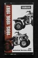 1995 1996 1997 YAMAHA BIG BEAR WARRIOR WOLVERINE BANSHEE BLASTER ATV SPEC MANUAL