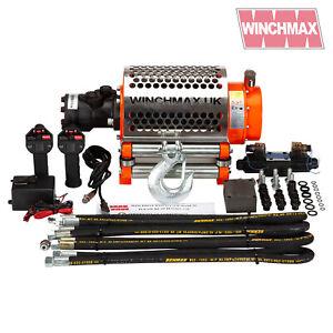 HYDRAULIC WINCH ZS 20000 lb WINCHMAX ORIGINAL ORANGE WINCH WITH STEEL ROPE - 12V