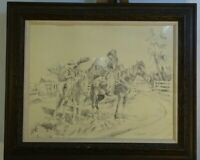 Large Framed Old n Young Drawing by Jim Fogarty