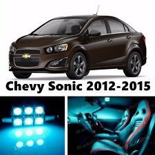 10pcs LED ICE Blue Light Interior Package Kit for Chevy Sonic 2012-2015