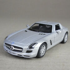 Mercedes-Benz SLS AMG Silver 1:36 Scale Diecast Model Car Opening Gullwing Doors