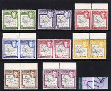 F.I.DEPS 1946 SET ALL WITH LONG 50º MERIDIAN & BROKEN 80th SG G1a-G8a MNH/ MINT