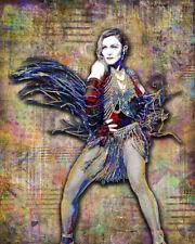 MADONNA Poster Madonna Pop Music Tribute Madonna Art Print 16x20inch Free Ship