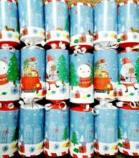 6 Childrens Xmas Crackers + Luxury Toys, Thomas Tank, Fire Engine, Squish dee li