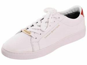 TOMMY HILFIGER Women Trainers Essential Sneaker Leather Sports Lace up Shoes UK