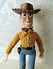 Toy Story 2  Talking Push Button Woody Action Figure - Vintage THINKWAY  Rare