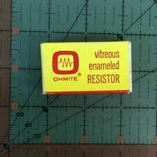 Ohmite Vitreous Enamel Power Tubular Resistor 75 ohm 25 watt 0200E Fixed NIB