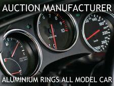 Fits 93-96 Toyota Supra MKIV JZA80 Chrome Dial Gauge Rings Polished Aluminium x3