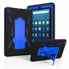 For Amazon Kindle Fire 7 Tablet 2019/2017 Kids Safe Shockproof Stand Hybrid Case