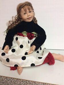 "Ashton Drake; Julie Fischer "" Tooth Fairy Emma ""- 16"" sitting doll.  CUTE!"