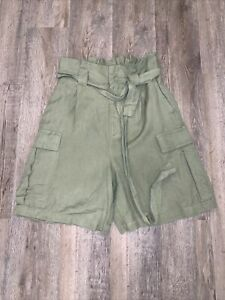 A New Day Rayon/linen Green Dress Shorts XS NWOT