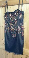 """Lovely Must Have Little Black Dress Size 10 Fully Sequined Chest 34"""" Gorgeous"""