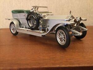1907 Rolls Royce Silver Ghost 1986 Franklin Mint Prestigious Models.