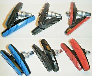 Mountain Bike or BMX 1 or 2 pair brake blocks 3 colours Bicycle break Pad Shoes