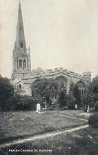 1910's VINTAGE POSTCARD - THE PARISH CHURCH at SE RUSHDEN NORTHAMPTONSHIRE