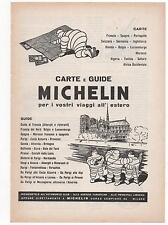 Pubblicità epoca 1954 GUIDE MICHELIN TURISMO advert werbung publicitè reklam