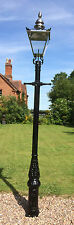 English street light Cast Iron Lamp Post 3.3 m Tall & silver steel lantern
