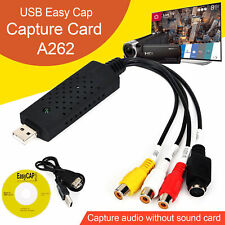 USB 2.0 Capture Card Adapter Converter VHS Tape To PC DVD Video Audio Easy Cap