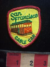 Vintage SAN FRANCISCO CABLE CAR California Patch - Urban Transport 75WO