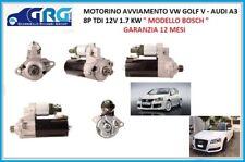 MOTORINO AVVIAMENTO VW GOLF V - AUDI A3 TDI 0001123036 12V 1.7 KW