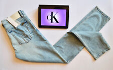 CALVIN KLEIN JEANS NEW Slim Straight Ice Blue Comfort Womens Sz. W31 L34 - BNWT