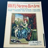 VTG HiFi Stereo Review Magazine April 1967 - St. Cecilia, The Patroness of Music