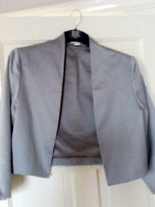Monsoon Bolero Jacket Grey Size 14