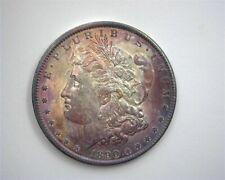 1890 MORGAN SILVER DOLLAR GEM UNCIRCULATED IRIDESCENT TONING!