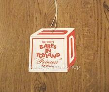 1960's Uneeda Babes In Toyland Princess Doll Wrist hang Tag (Reproduction)