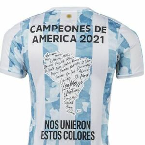 ARGENTINA 2021 SPECIAL EDITION Jersey COPA AMERICA CHAMPION Messi Home AFA Shirt