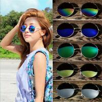 Men Women Round Mirrored Sunglasses Eyewear Vintage Outdoor Sports Glasses