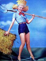 Betty Grable 1955 Vintage Pinup Litho 20th Century Fox Photo Publicity Promo COA