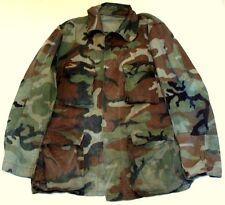 Vintage Army Military Midland Pattern Camouflage Combat Jacket Sz Large Long
