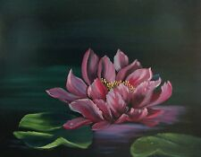 """Water Lily Original Oil Painting 20"""" x 16"""""""