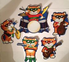 Jazz Cats  - Iron On Fabric Appliques - Band, Music