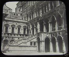 Glass Magic lantern Slide VENICE GIANTS STAIRCASE DOGES PALACE C1890 ITALY L65